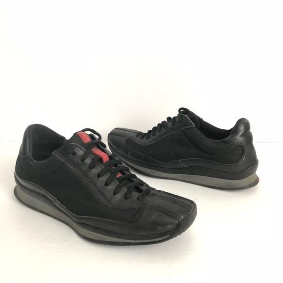 Black Red Striped Sneakers Tennis